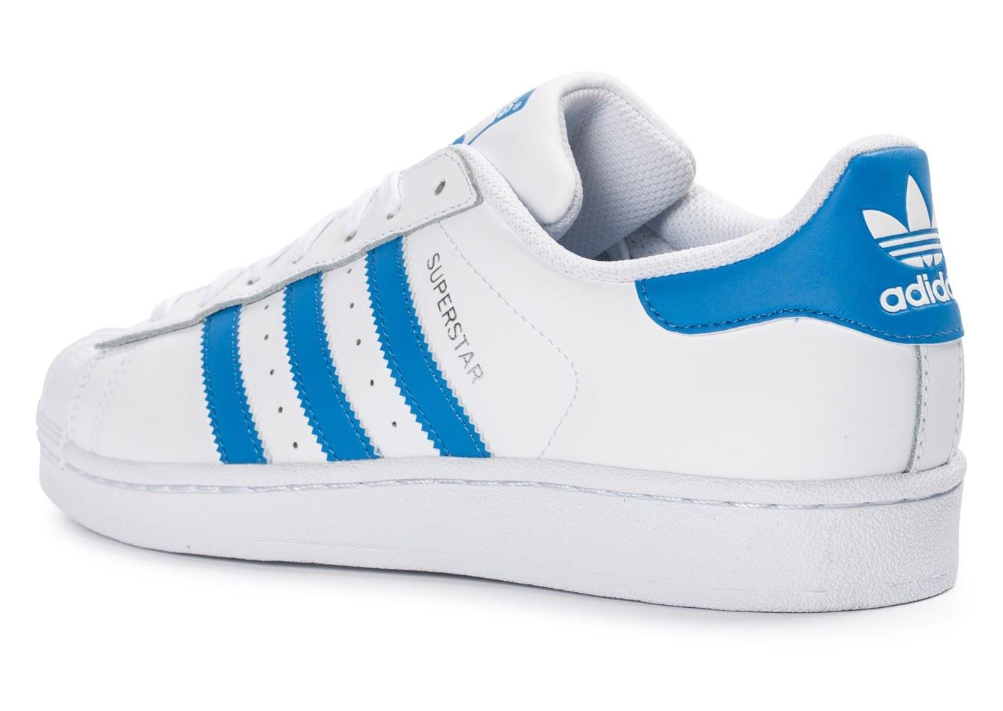 économiser c84dc 9080b adidas superstar bleu et blanche