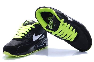 air max 90 noir et vert fluo